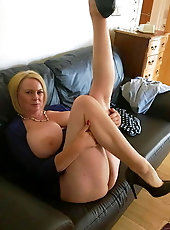 Alluring mature mamas are getting seminaked on cam
